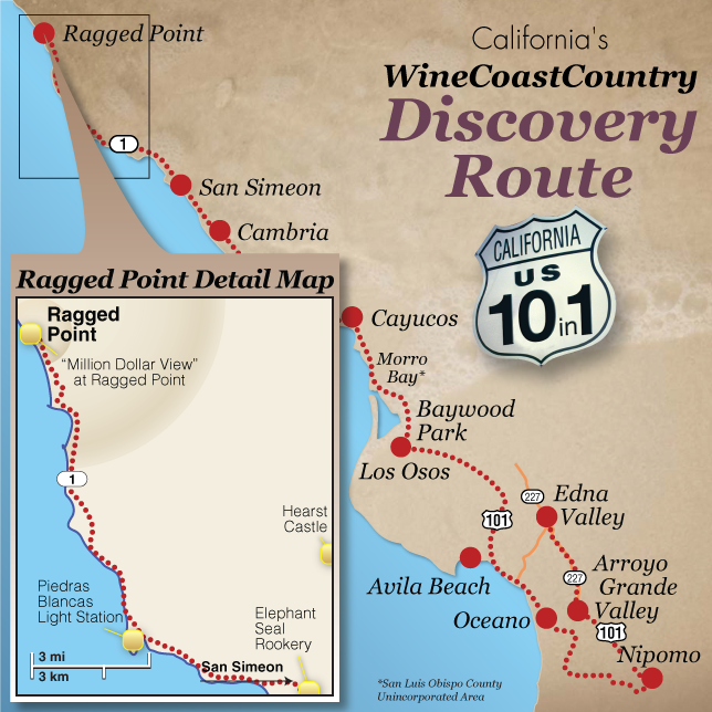 Ragged Point Map