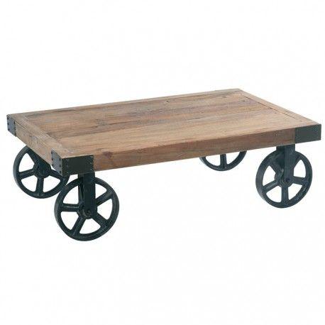 Table Basse Roulettes En Fer Cross Industriel Etabli Table Basse Table Basse Roulette Et Mobilier De Salon
