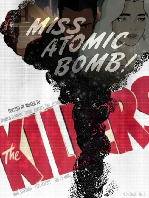 The Killers Miss Atomic Bomb Band Posters Music Poster