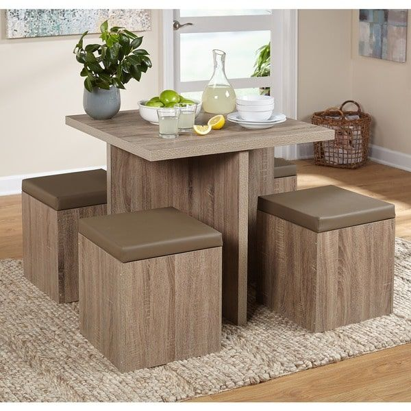 Cheap 5 Piece Dining Set: Simple Living 5 Piece Baxter Dining Set With Storage
