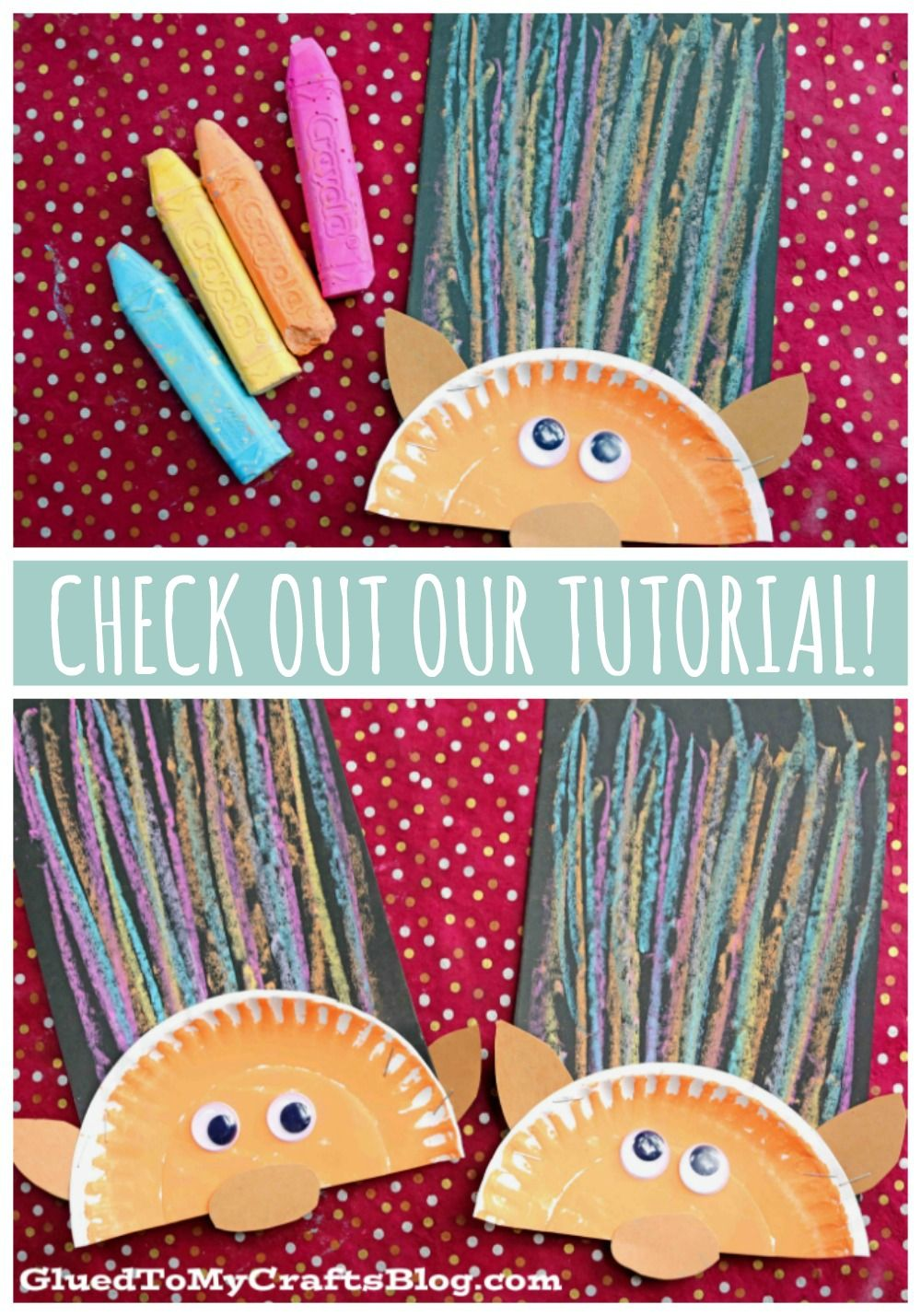 Paper Plate & Chalk Art Troll Hair – Kid Craft Idea