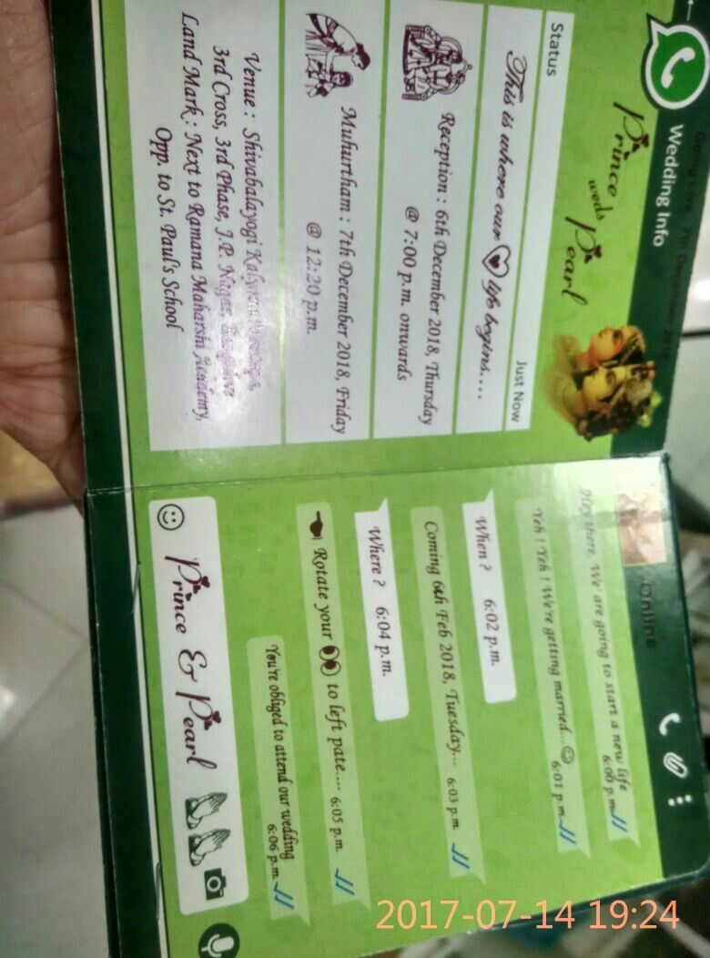 whatsapp wedding card Whatsapp Messages