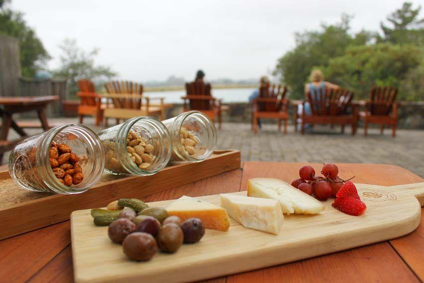 Courtyard tastings outdoors at gundlach bundschu winery