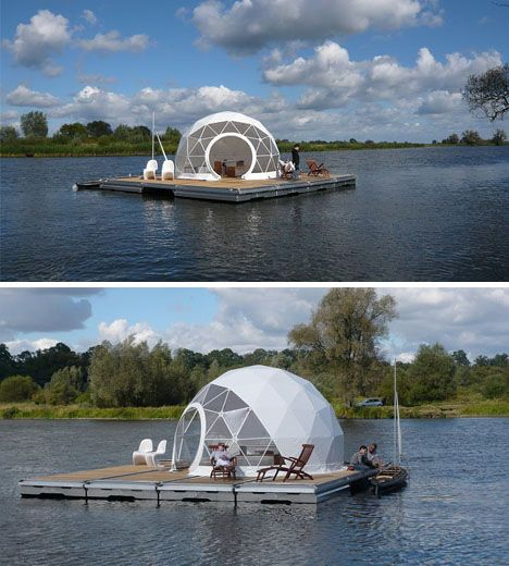 Dome House Futuristic: Floating Escape Dome Home...for The Zombie Apocalypse