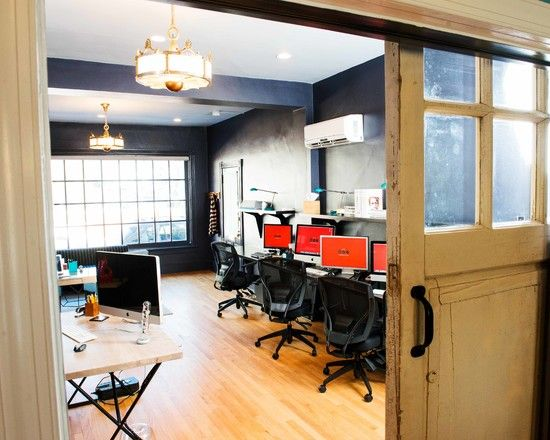 Awesome Office Studio Design with Rustic Touch: Amazing Modern Home