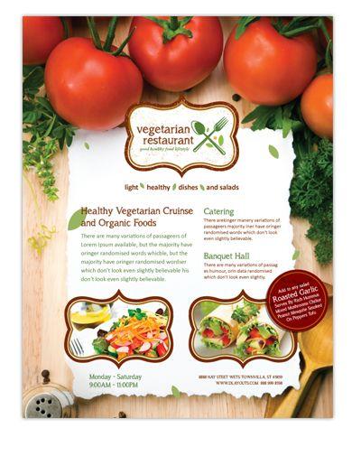 Vegetarian Restaurant Flyer Template #flyer #restaurant