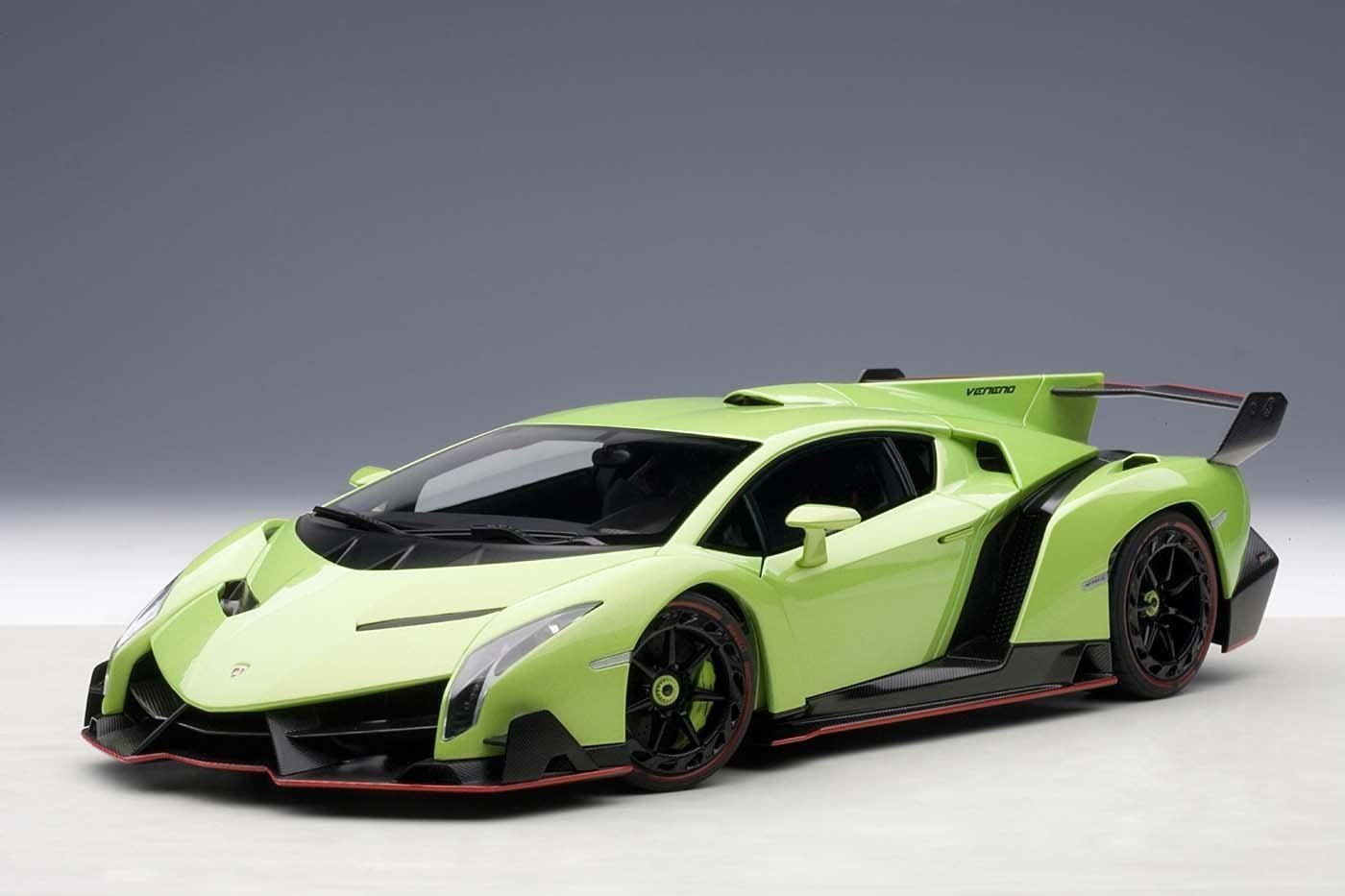 Awesome Great 1/18 AUTOart 74509 LAMBORGHINI VENENO (GREEN ...