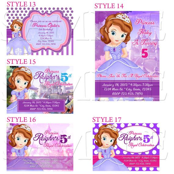 Sofia the first invitations sofia invitation sofia by sdbdirect items similar to sofia the first invitation sofia birthday invitations sofia the first party invitation printables style 22 on etsy stopboris Image collections