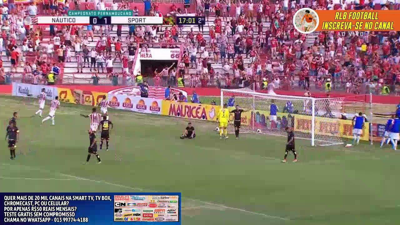 Assistir ao gol contra de Chico que empatou o jogo Náutico