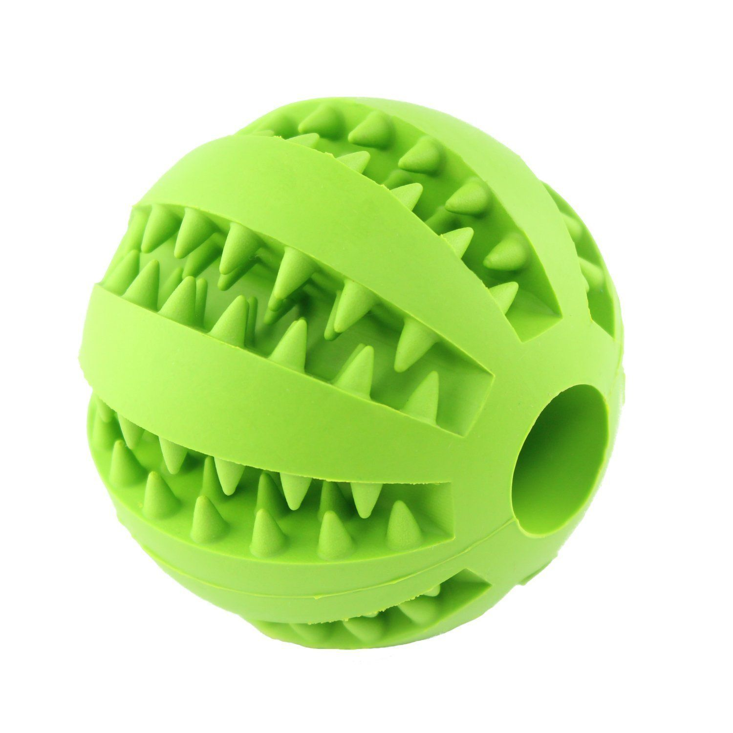 wangstar Dual Pet Toy Ball for Dogs Bite Resistant Soft Rubber