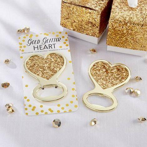 Gold Heart Bottle Opener