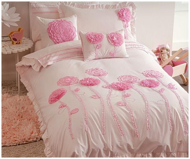 Floret Pink Quilt Cover Set Kids Bed Linen Girl Beds Quilt Cover Sets