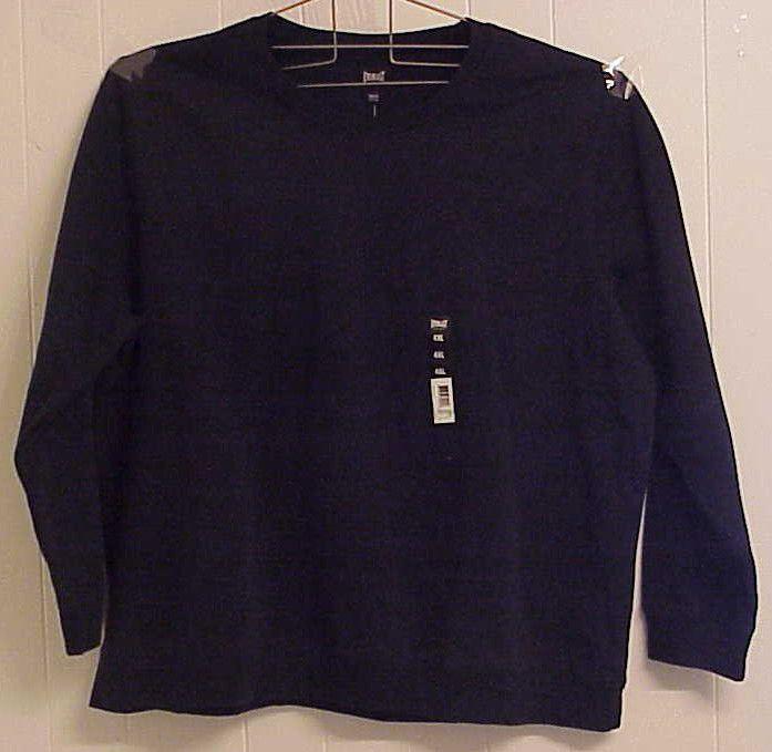 9d6780a2a Men s 4XL EVERLAST SPORT Crew Neck Fleece Sweatshirt NWT Navy Blue long  sleeve  21.98