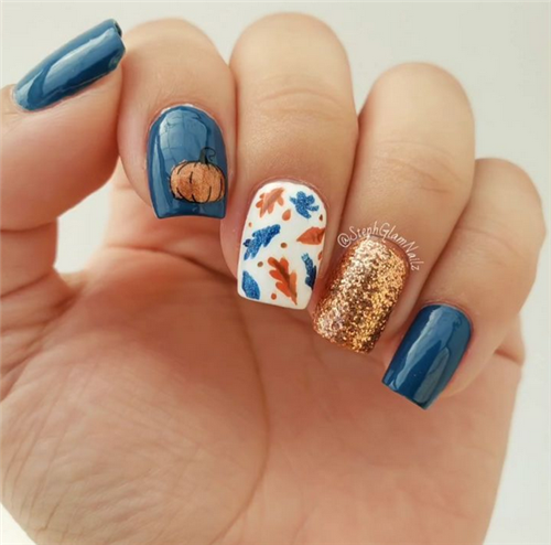 Trendy Fall Nail Art Designs For Short Nails Pretty Acrylic Nails Classy Nail Designs Fall Gel Nails
