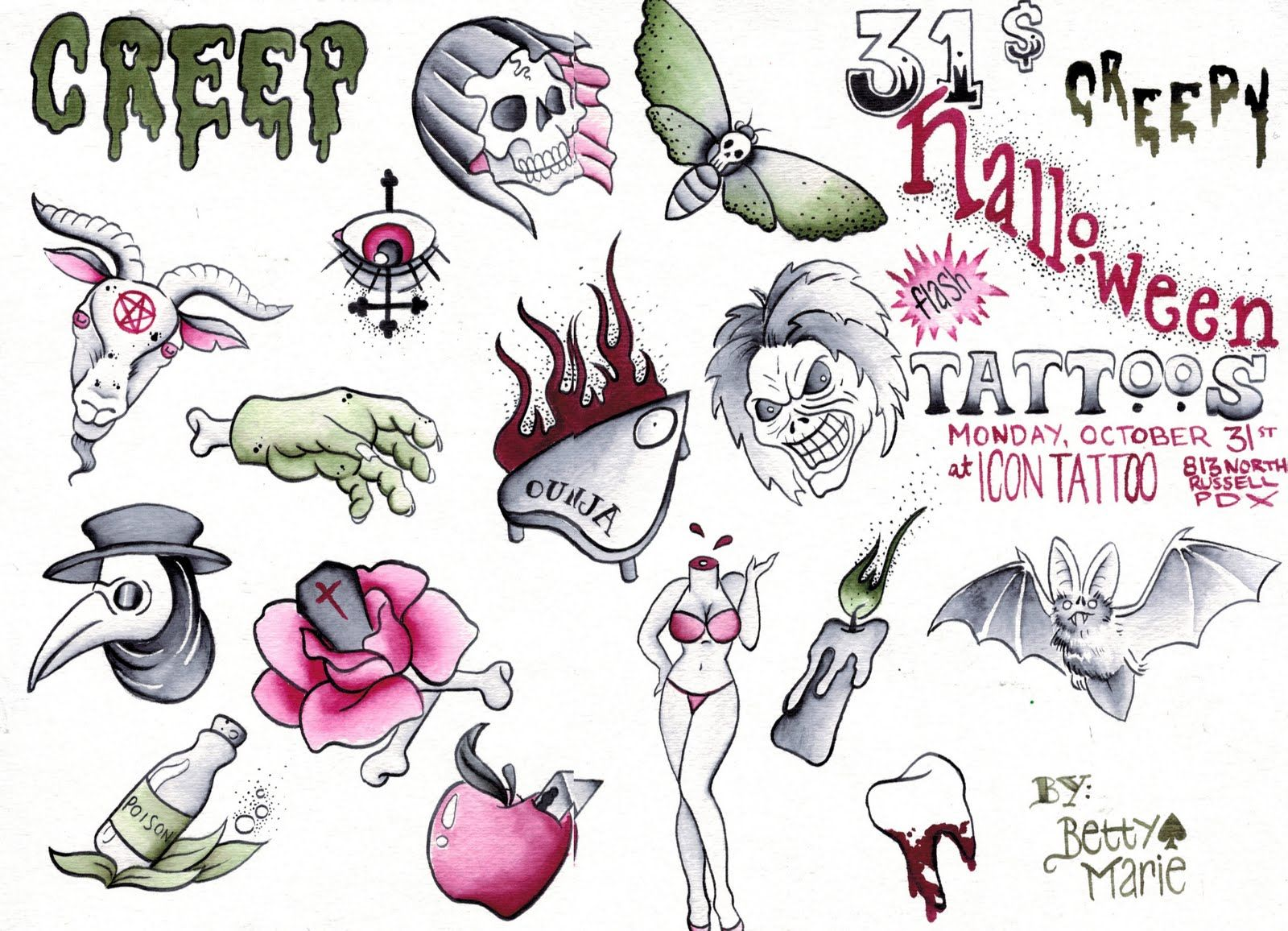 Halloween Tattoo Images & Designs Halloween tattoos