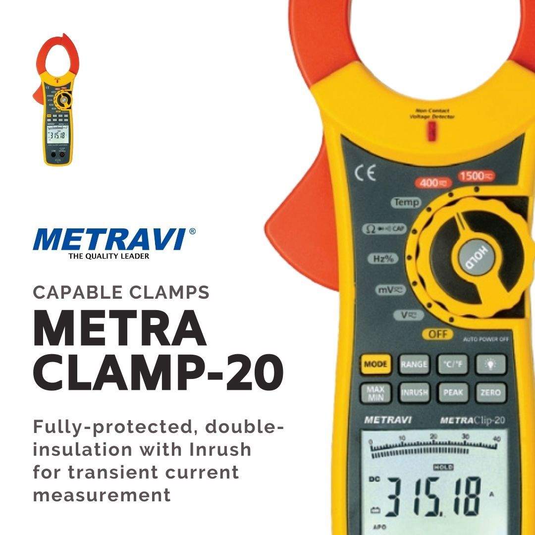 Metravi Gives You Capable Clamps Our Clamp Meters Give You High Precision Reliability As Well As Extra The Metraclamp 20 Is T In 2020 Clamp Acdc Cool Things To Buy
