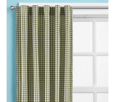Kids Curtains: Kids Blue Gingham Curtain Panels