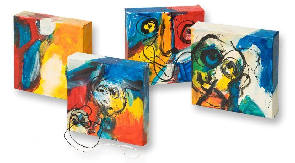 Laer At Lave Kreative Malerier Med Farveblanding Og Horgarn Mal Med Kreativ Farver
