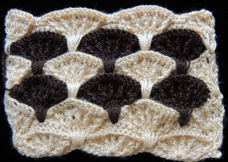 Bello punto Abanico en relieve realizado en Crochet. Parte 1 de 3 ...