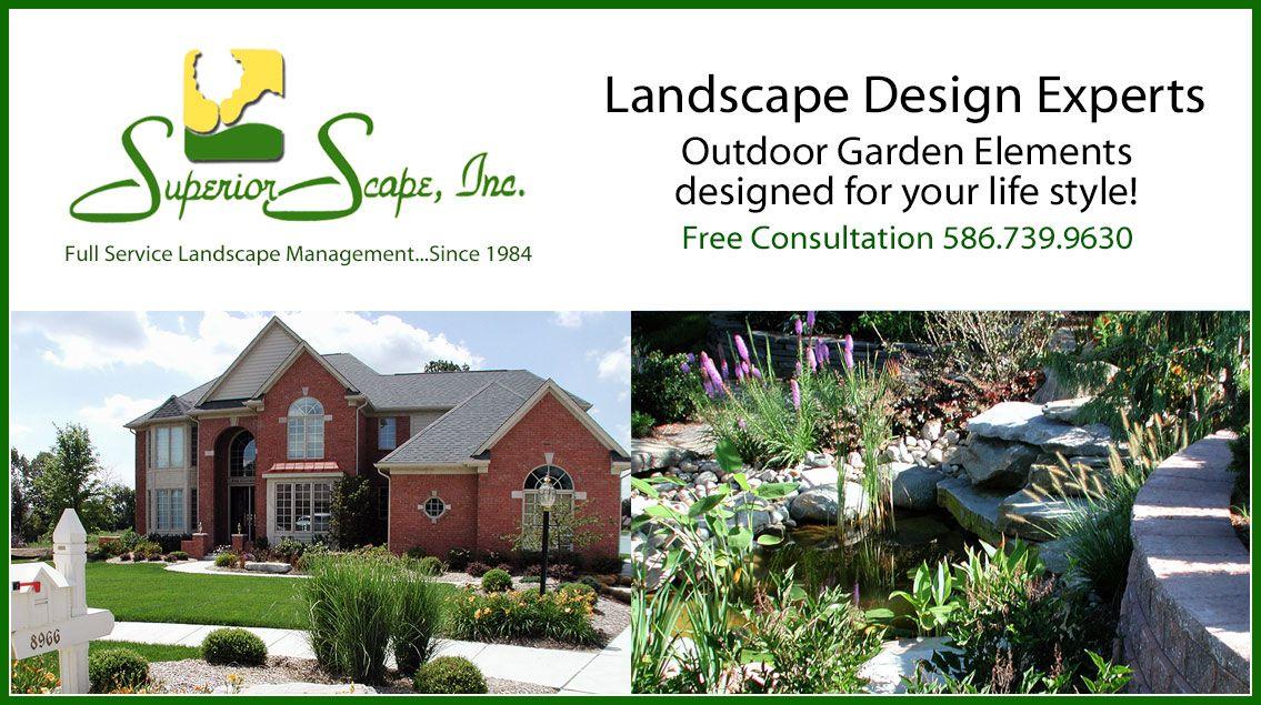 Complete home landscape design, installation and