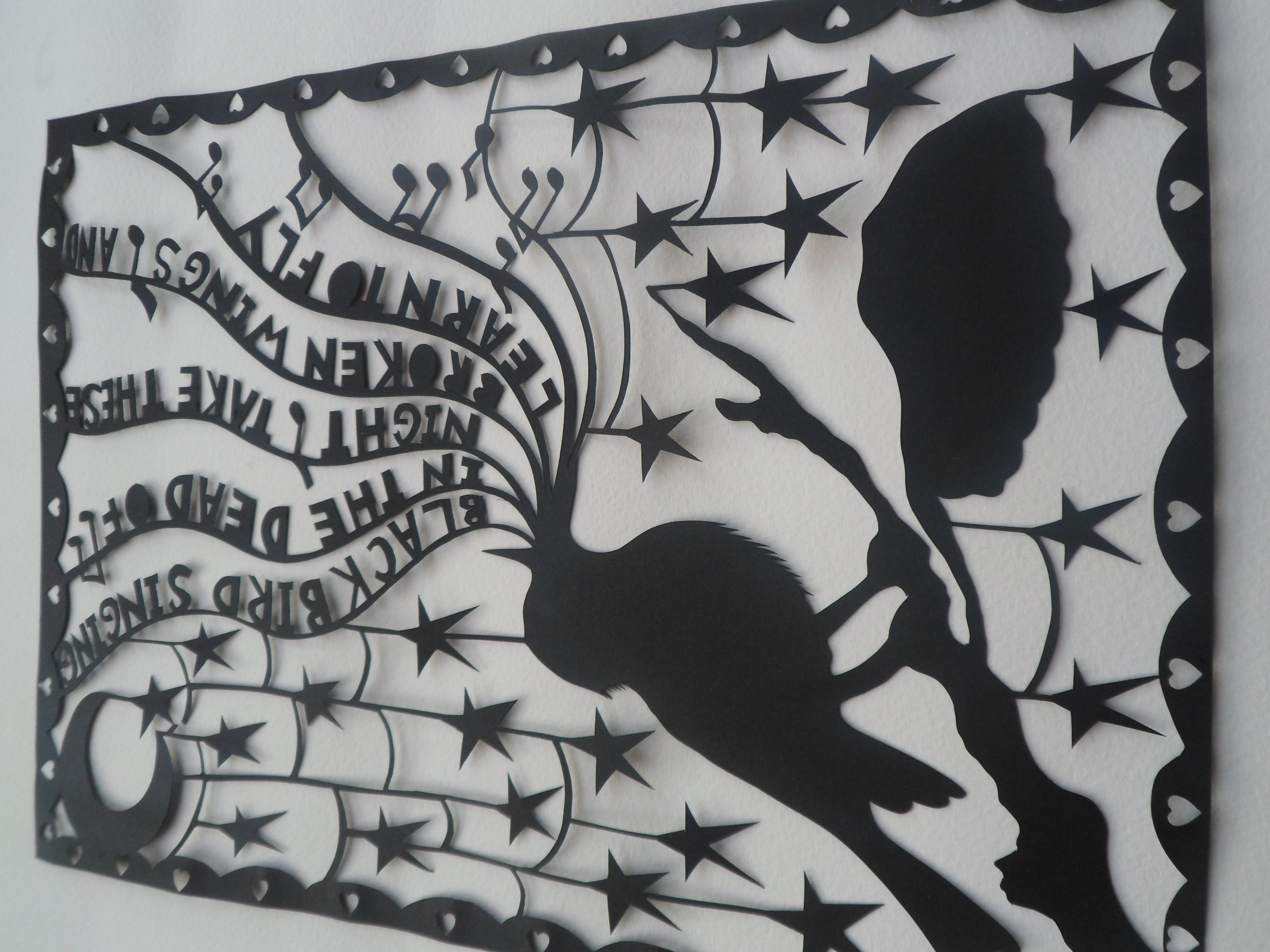 Original Hand Drawn And Cut, Papercut Art By Marmalade
