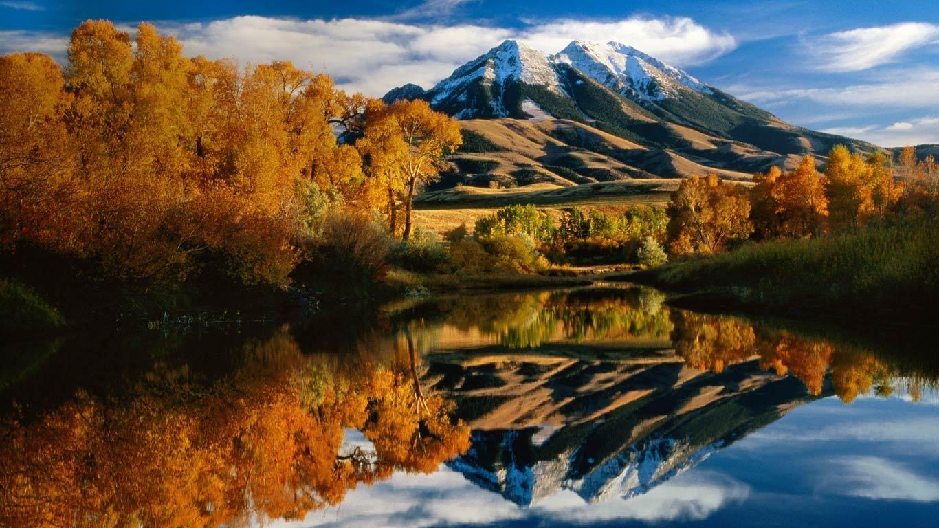 Autumn Colors And Emigrant Peak Paradise Valley Montana