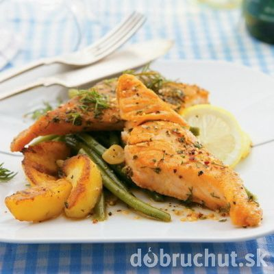 Marinated Salmon in Remoska (use Google Translate for the recipe)