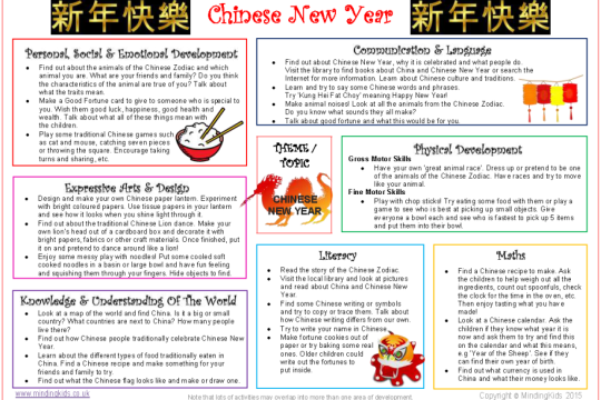 Calendar Ideas Reception : Chinese new year activity ideas festival traditional