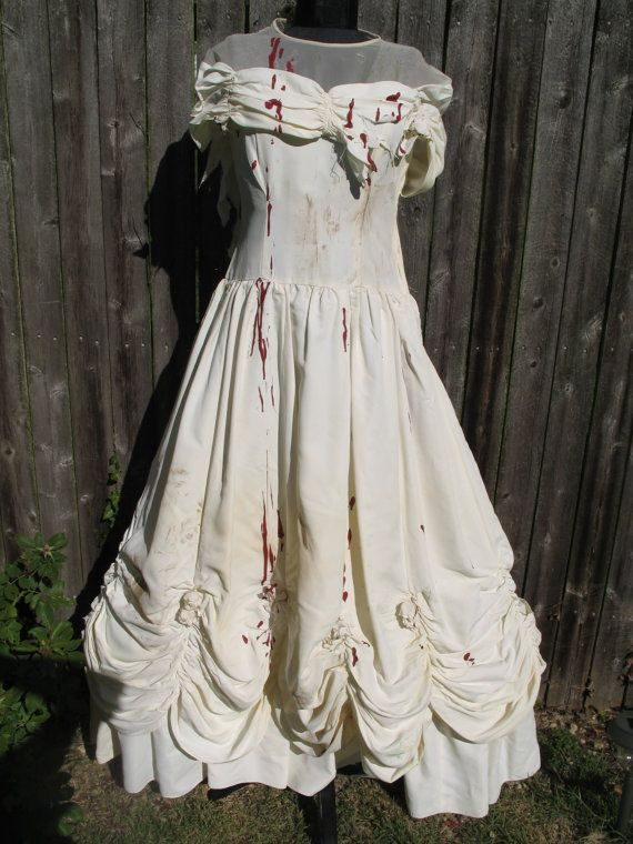 1940u0027s Halloween Costume Bloody Bride of by SusieQsVintageShop $65.00 & 1940u0027s Halloween Costume Bloody Bride of by SusieQsVintageShop ...