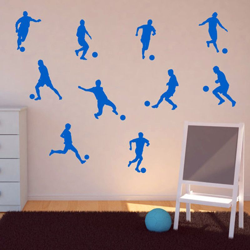 10 Football Player Wall Stickers Vinyl Wall Art Children Kids Wall