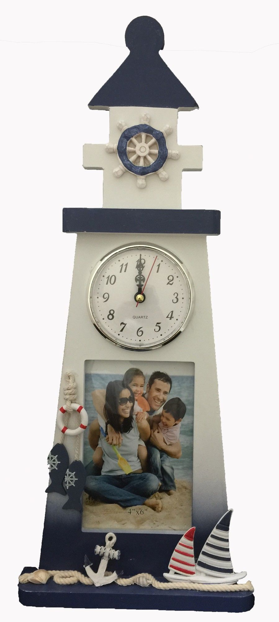 Lighthouse Frame and Table Clock