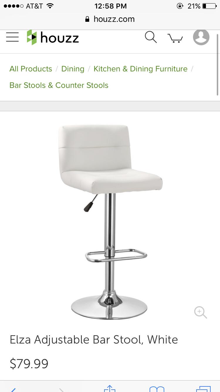 White bar stool Houzz.com | Apartment | Pinterest | Houzz, Bar stool ...