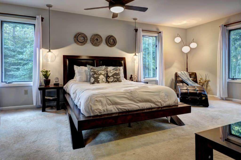 Best Master Bedroom Lighting Fixtures | Master Bedroom Lighting, Floor Lamp Bedroom, Bedroom Design