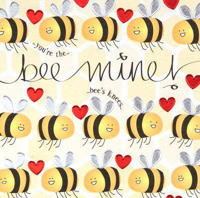 Valentine's Day card - 'You're the Bees Knees ...  |The Bees Knees Valentine