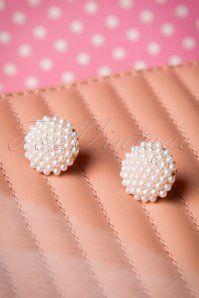 50s Bouquet of Pearls Earrings