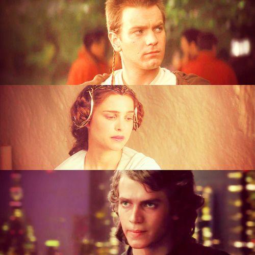 Obi Wan, Padme and Anakin