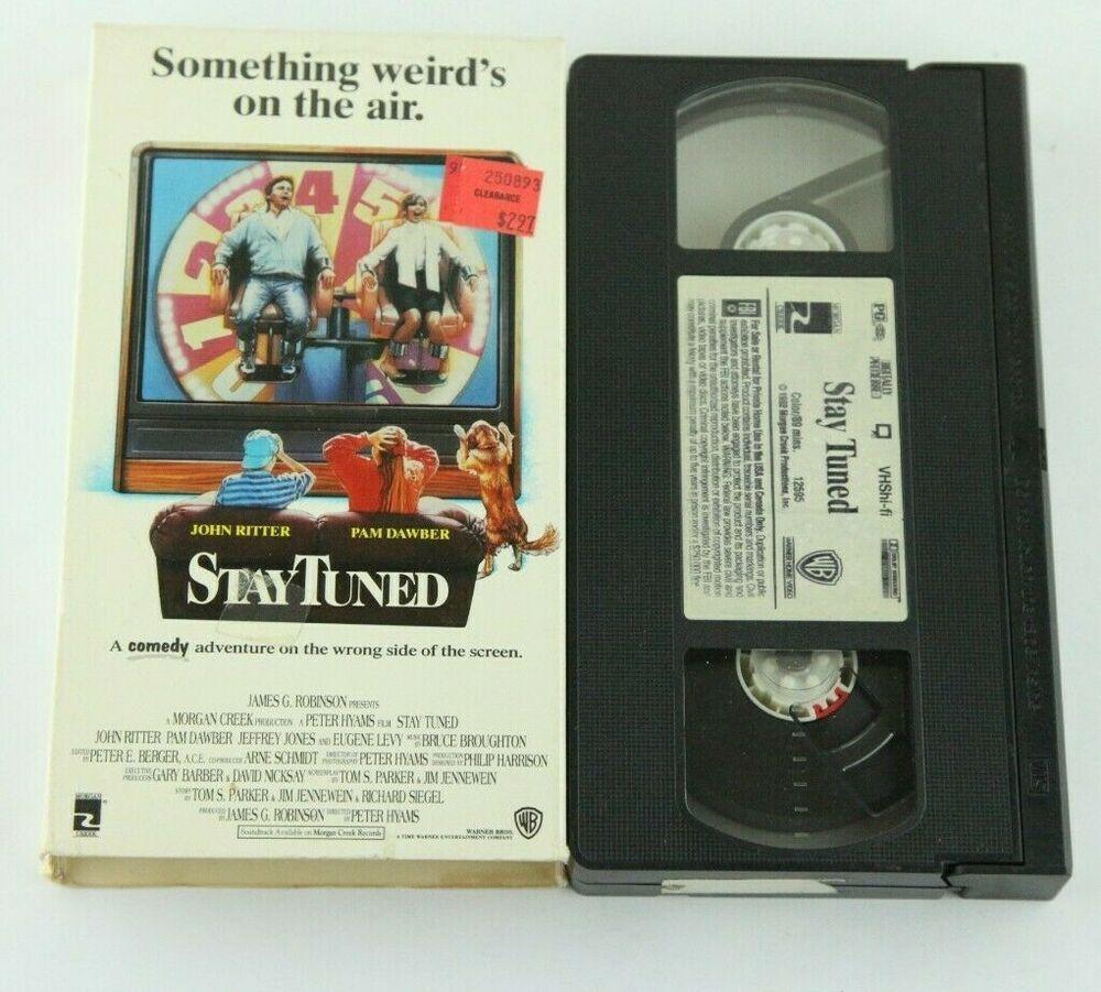 Stay Tuned Vintage Vhs Tape John Ritter Paw Dawber Warner Home Video 1992 Vhs Tapes John Ritter Vhs