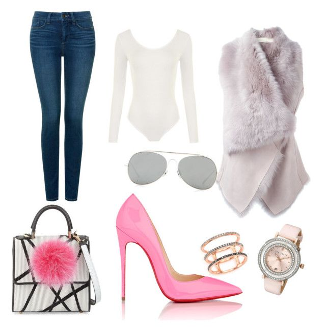 """""""Pop of Pink!!"""" by shesreadyinc on Polyvore featuring Christian Louboutin, Drome, NYDJ, WearAll, Ted Baker, EF Collection, Acne Studios, Les Petits Joueurs, women's clothing and women's fashion"""