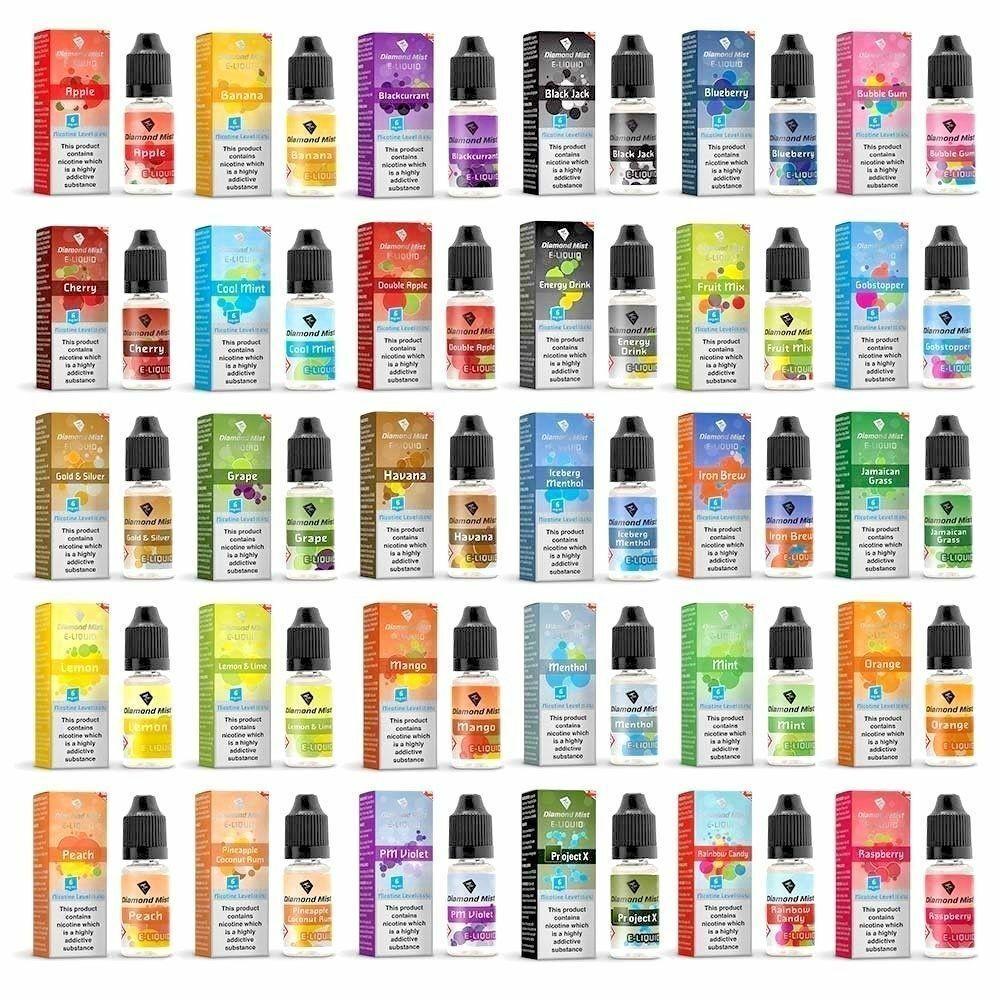 Details about Diamond Mist E-Liquid 10ml Flavours Vape Juice
