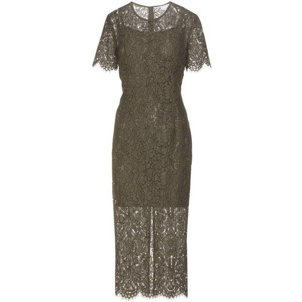 Diane Von Furstenberg Carly Lace Dress ($690) ❤ liked on Polyvore featuring dresses, diane von furstenberg, brown lace dress, diane von furstenberg cocktail dresses, lace dress and diane von furstenberg dress