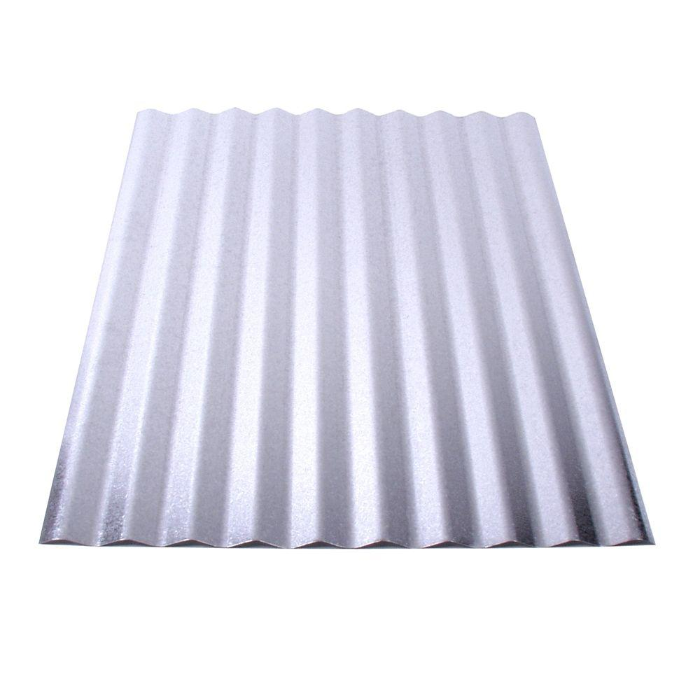 Fabral 8 Ft Galvanized Steel Corrugated Roof Panel 4736051000 The Home Depot In 2020 Corrugated Metal Roof Panels Steel Roof Panels Corrugated Roofing