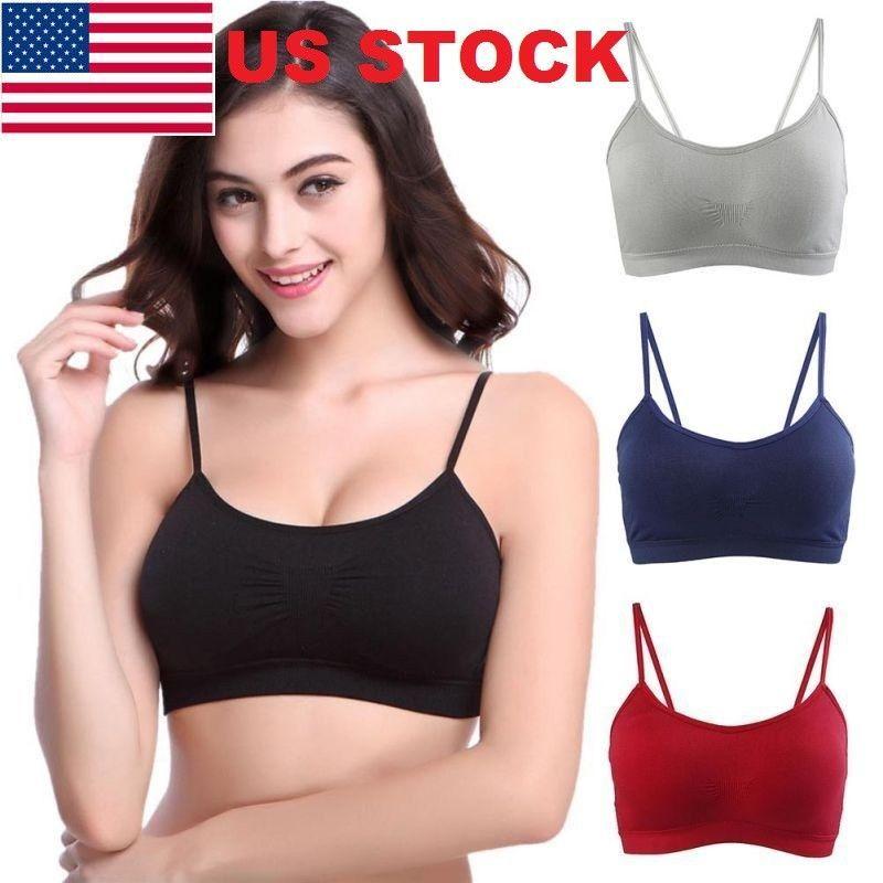babc972f7f454 Womens Yoga Sports Running Bra Stretch Crop Top Vest Bras Shaper Padded Bras  GW  Unbranded  Balconettes