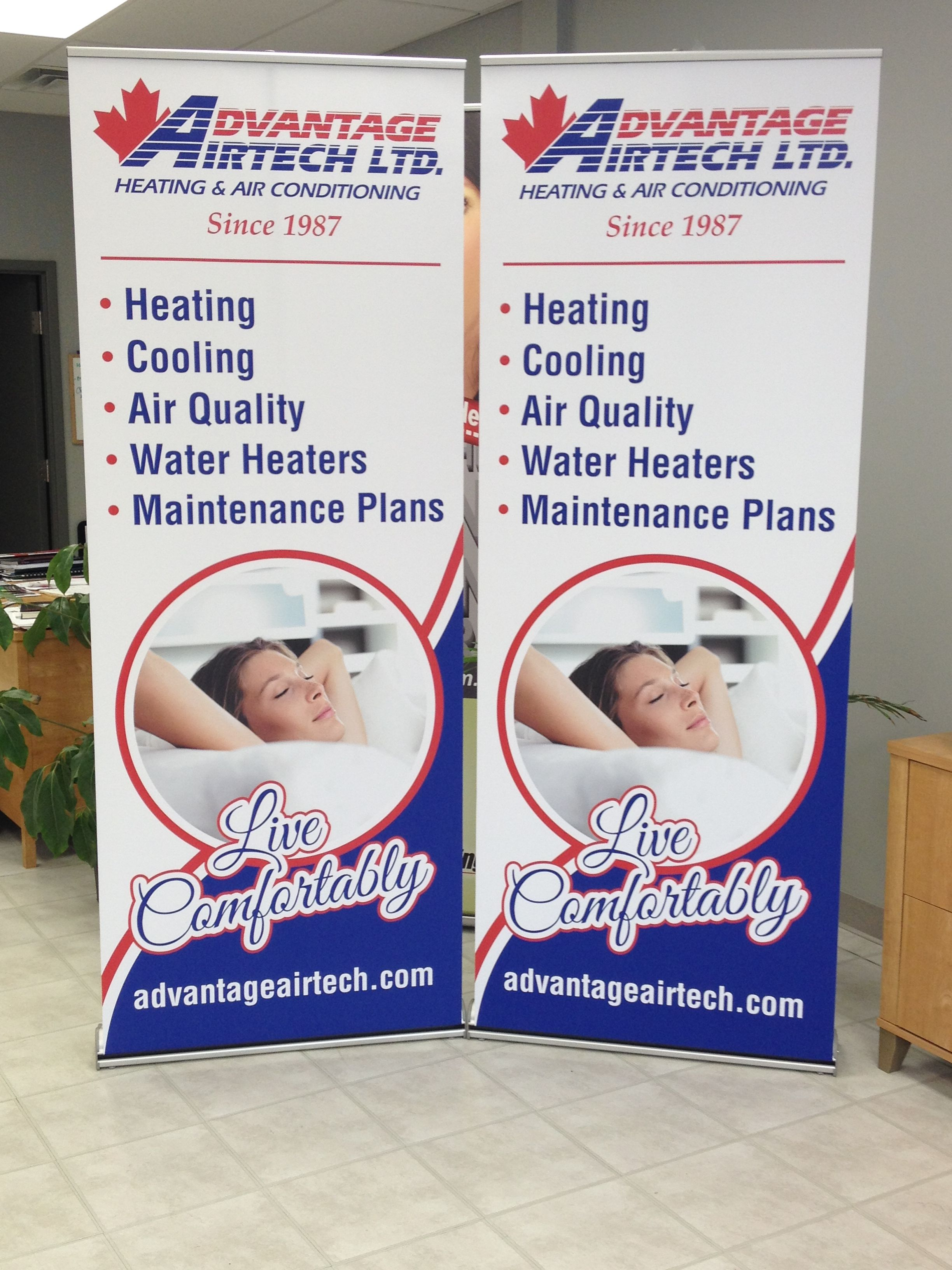 2 Retractable Banners Completed For Advantage Airtech To Match