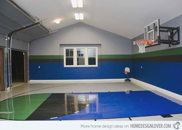 15 Ideas For Indoor Home Basketball Courts | Home Design, Home And