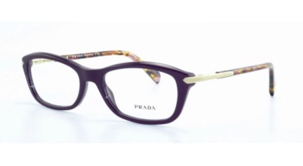 ❤️PRADA Frames Purple Plastic Women Eyeglasses VPR04P ROM-101 52mm ...