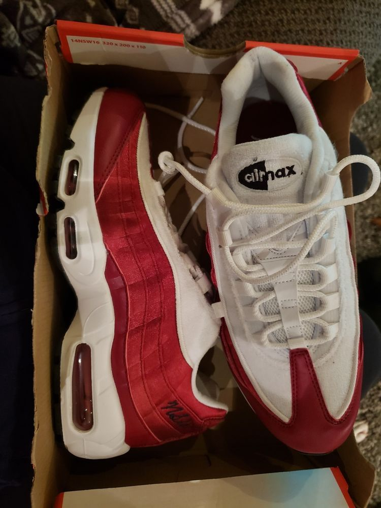 a98618215791c NIKE AIR MAX 95 LX WOMEN's CASUAL RED CRUSH - WHITE - AUTHENTIC NEW US SZ 9  #fashion #clothing #shoes #accessories #womensshoes #athleticshoes (ebay  link)