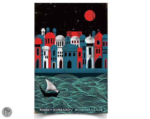 Scheherazade 11 X 17 Poster Paper Sparrow Etsy Art 11x17 Poster Art Prints
