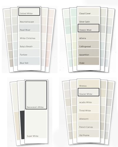 All Are Benjamin Moore Paint Colors Cool Warm White Paints Includes Decorator And Dove Which Seem To Ear On Everyone S List