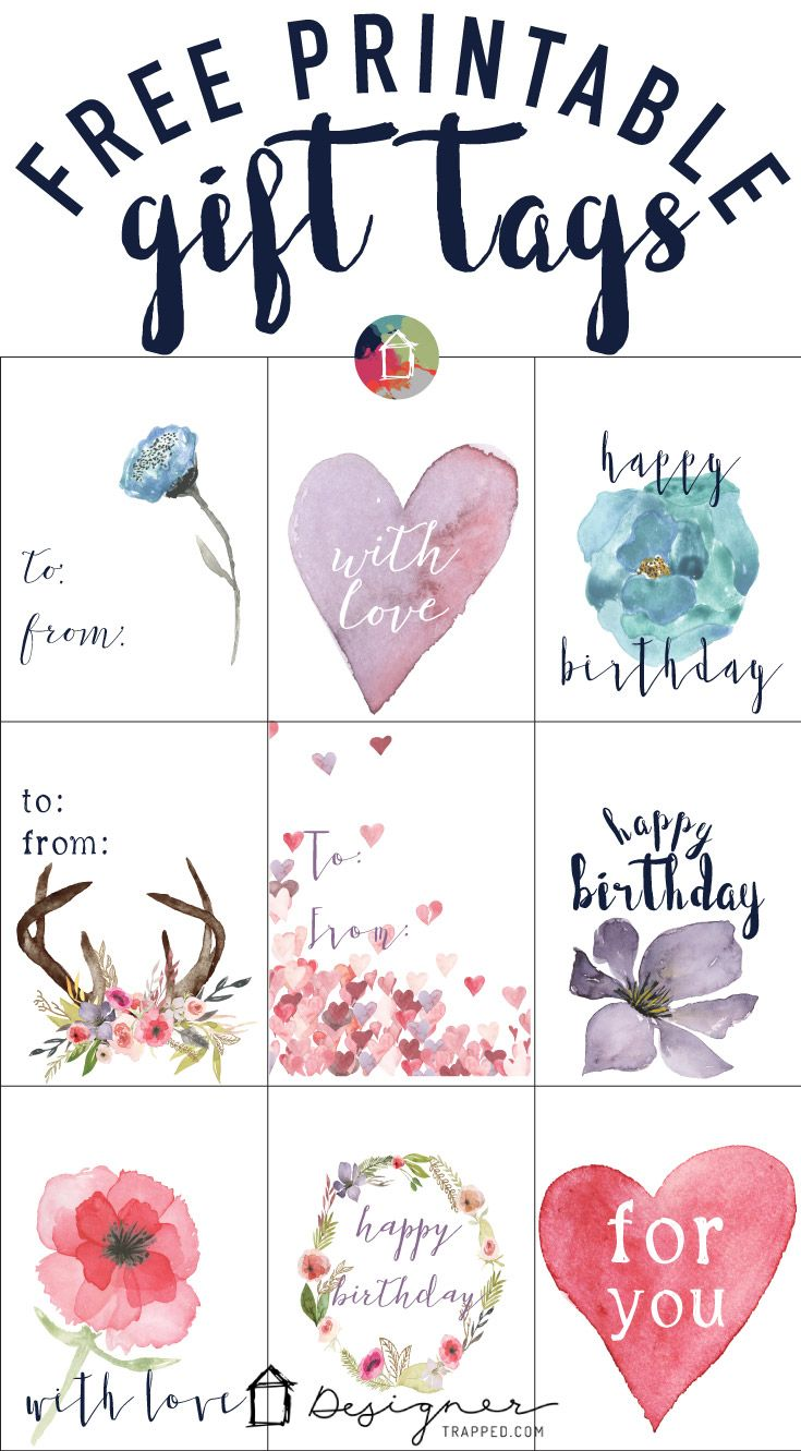Free printable gift tags for birthdays negle Images