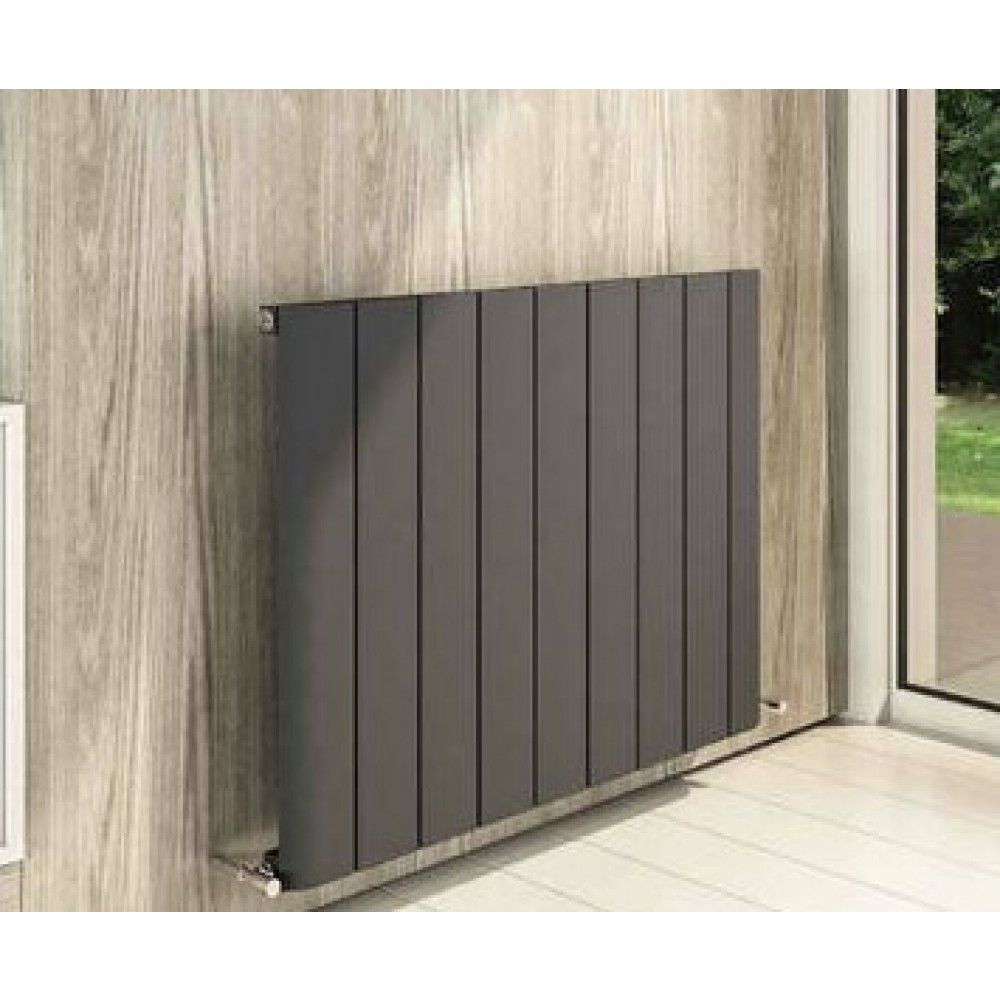 Wattage Radiator Peretti 600 X 660mm Aluminium Radiator Matt Anthracite Heating